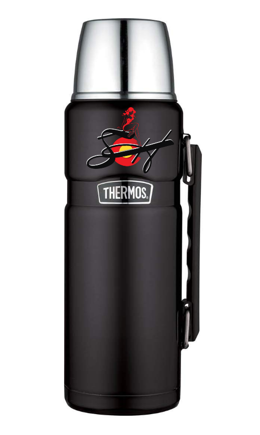 Thermos Stainless King 40 Ounce Beverage Bottle, Matte Black
