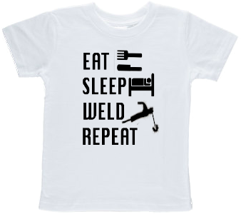 Eat Sleep Weld Repeat Toddler T-shirt