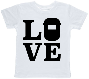 Love Welder Printed Toddler T-shirt