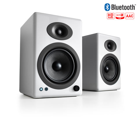 Audioengine bocina A5+ Wireless, color blanco bocinas - Salvaje Music Store MEXICO