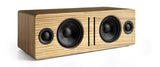 Audioengine bocina Bluetooth de escritorio, color madera zebra - B2