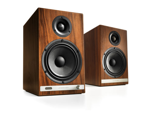 Audioengine bocinas inalámbricas HD6 - Color Walnut (auto amplificadas) bocinas - Salvaje Music Store MEXICO