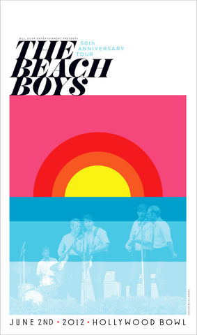 The Beach Boys - Hollywood Bowl (Fluorescent Lithograph)