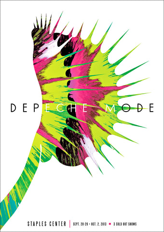 Depeche Mode - Staples Center (Fluorescent Lithograph) Print - Salvaje Music Store MEXICO