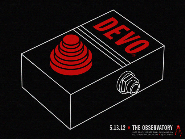 Devo - The Observatory (Lithograph) Print - Salvaje Music Store MEXICO