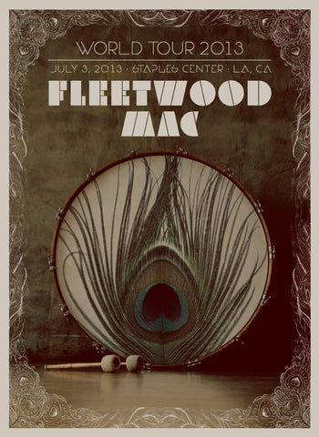 Fleetwood Mac - World Tour 2013 (Litho-print with Silk-screened Varnish) Print - Salvaje Music Store MEXICO