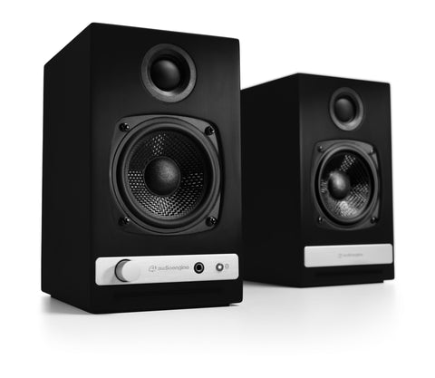 Audioengine bocinas inalámbricas HD3 - Color negro (auto amplificadas)