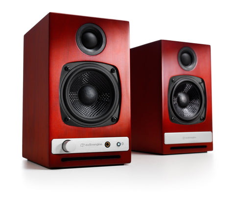 Audioengine bocinas inalámbricas HD3 - Color cherry (auto amplificadas) bocinas - Salvaje Music Store MEXICO