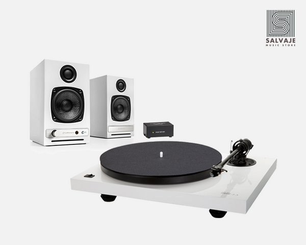 Plug and play pack #2: Tornamesa + Phono Mini Pre Amp + Bocinas Bluetooth Paquete de audio - Salvaje Music Store MEXICO