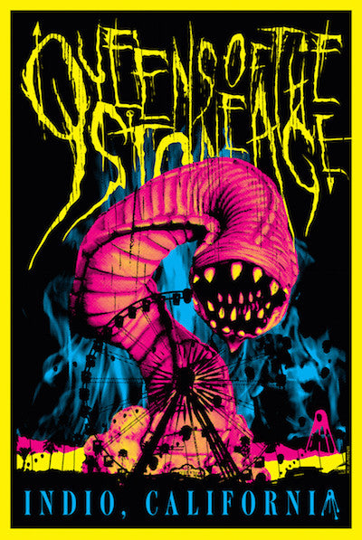 Queens Of The Stone Age (Fluorescent Lithograph) Print - Salvaje Music Store MEXICO