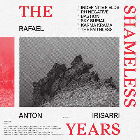 Rafael Anton Irisarri - The Shameless Years (Limited edition red vinyl LP) Vinil - Salvaje Music Store MEXICO