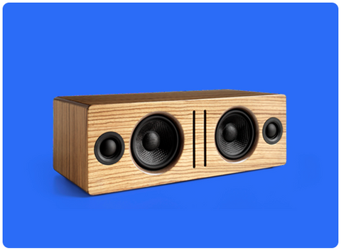 Audioengine bocina Bluetooth de escritorio, color madera zebra - B2 bocinas - Salvaje Music Store MEXICO