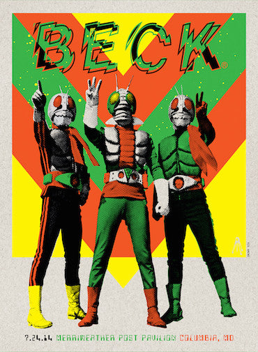 Beck - Columbia (Lithograph) Print - Salvaje Music Store MEXICO