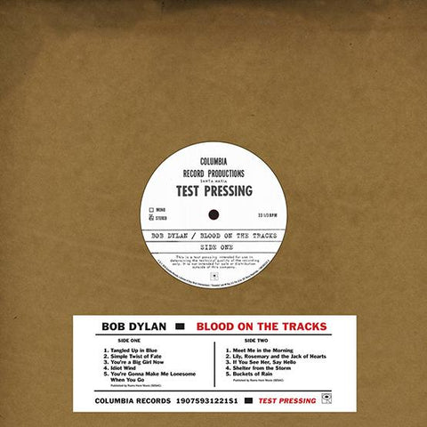 Bob Dylan - Blood On The Tracks - Original New York Test Pressing Vinyl LP (Record Store Day) Vinil - Salvaje Music Store MEXICO