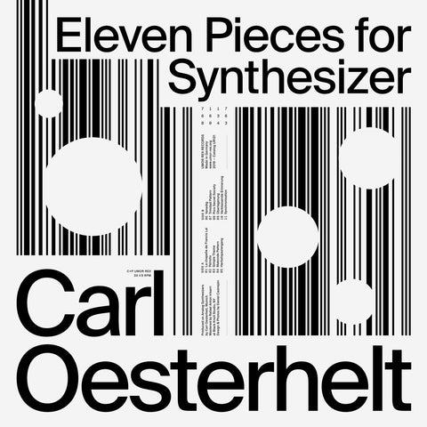 Carl Oesterhelt -  Eleven Pieces for Synthesizer (Limited Blue Vinyl) Vinil - Salvaje Music Store MEXICO