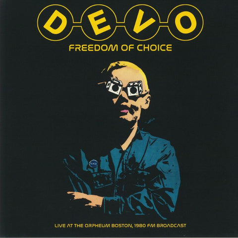 Devo - Freedom Of Choice Live At The Orpheum Boston, 1980 FM Broadcast [LP] Vinil - Salvaje Music Store MEXICO