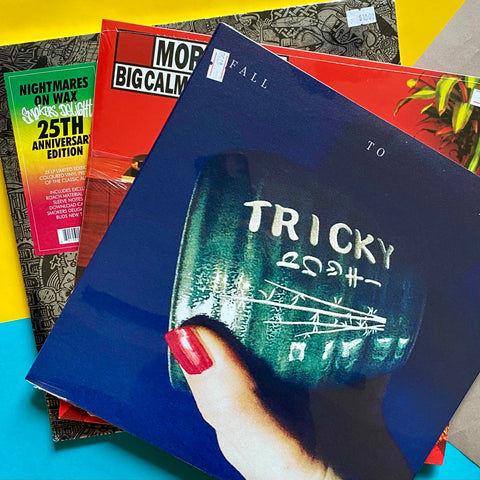 DOWN EL TIEMPO PACK: Tricky - Fall To Pieces + Morcheeba - Big Calm + Nightmares on Wax - Smokers Delight (2xLP color)