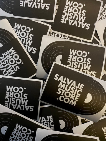 Salvaje Music Store - 3 Pack de Stickers (plateado y negro)