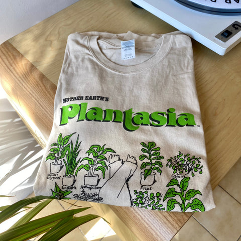 "Mort Garson - Plantasia ""Man With His Plants"" Large T-Shirt"