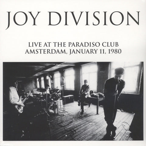 Joy Division - Live At The Paradiso Club Amsterdam, January 11, 1980 Vinil - Salvaje Music Store MEXICO