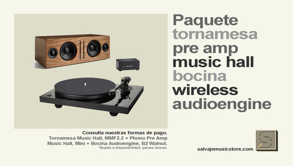 Paquete tornamesa + Phono Pre Amp + Bocina wireless Paquete de audio - Salvaje Music Store MEXICO