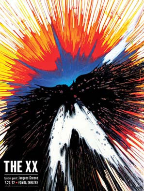 The XX - Fonda Theatre (Litho-print with Silk-screened Varnish) Print - Salvaje Music Store MEXICO
