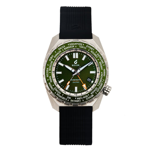 BOLDR Globetrotter GMT - Emerald