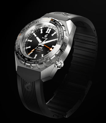 BOLDR Globetrotter GMT - Diver's Watch Facebook Group LE (Black)