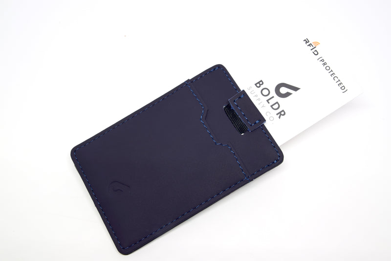 BOLDR Slim Wallet 2.0 - Blue/Grey