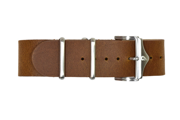 Premium leather Nato strap Brown (22mm)