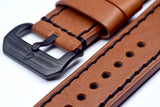 BOLDR Odyssey Leather Strap (Brown/Black) (22mm)