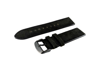BOLDR Journey Black Leather Strap (22mm)