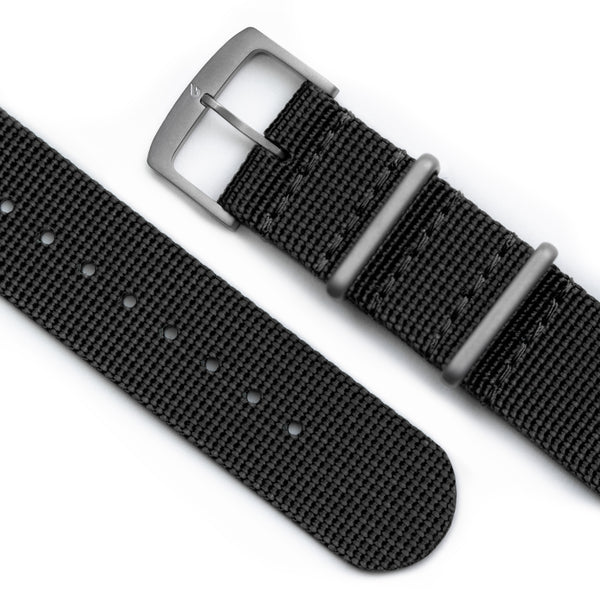 BOLDR Carbon Black Nylon NATO Strap (20mm)