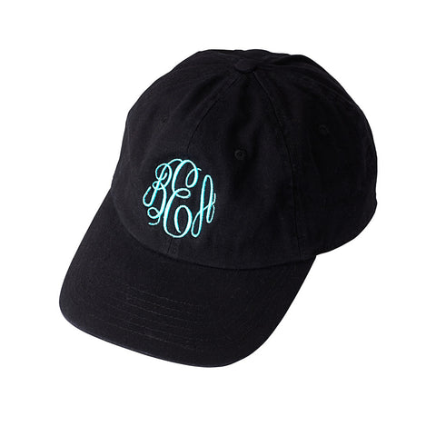 Black Monogrammed Baseball Hat