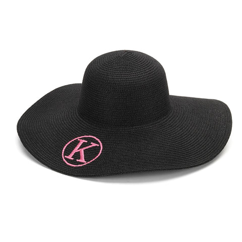 Black Adult Mongrammed Floppy Hat