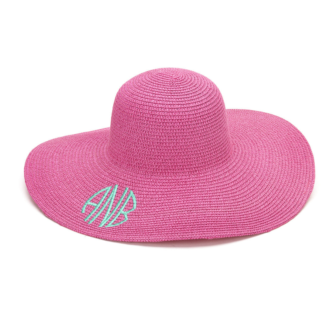 Hot Pink Adult Mongrammed Floppy Hat