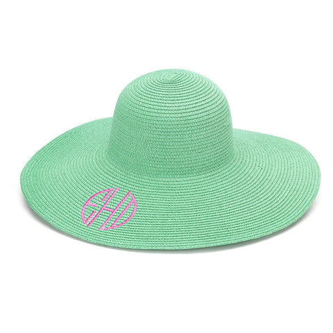 Mint Adult Mongrammed Floppy Hat