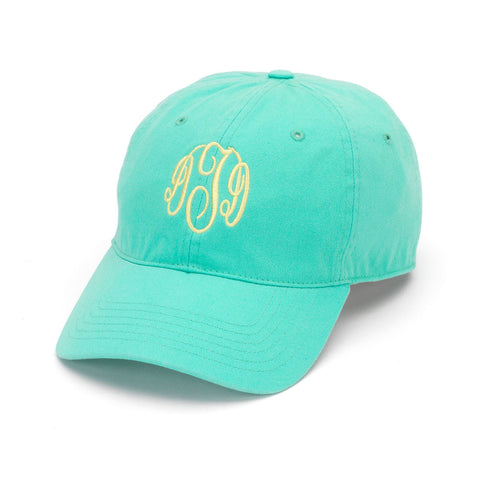 Mint Monogrammed Baseball Hat