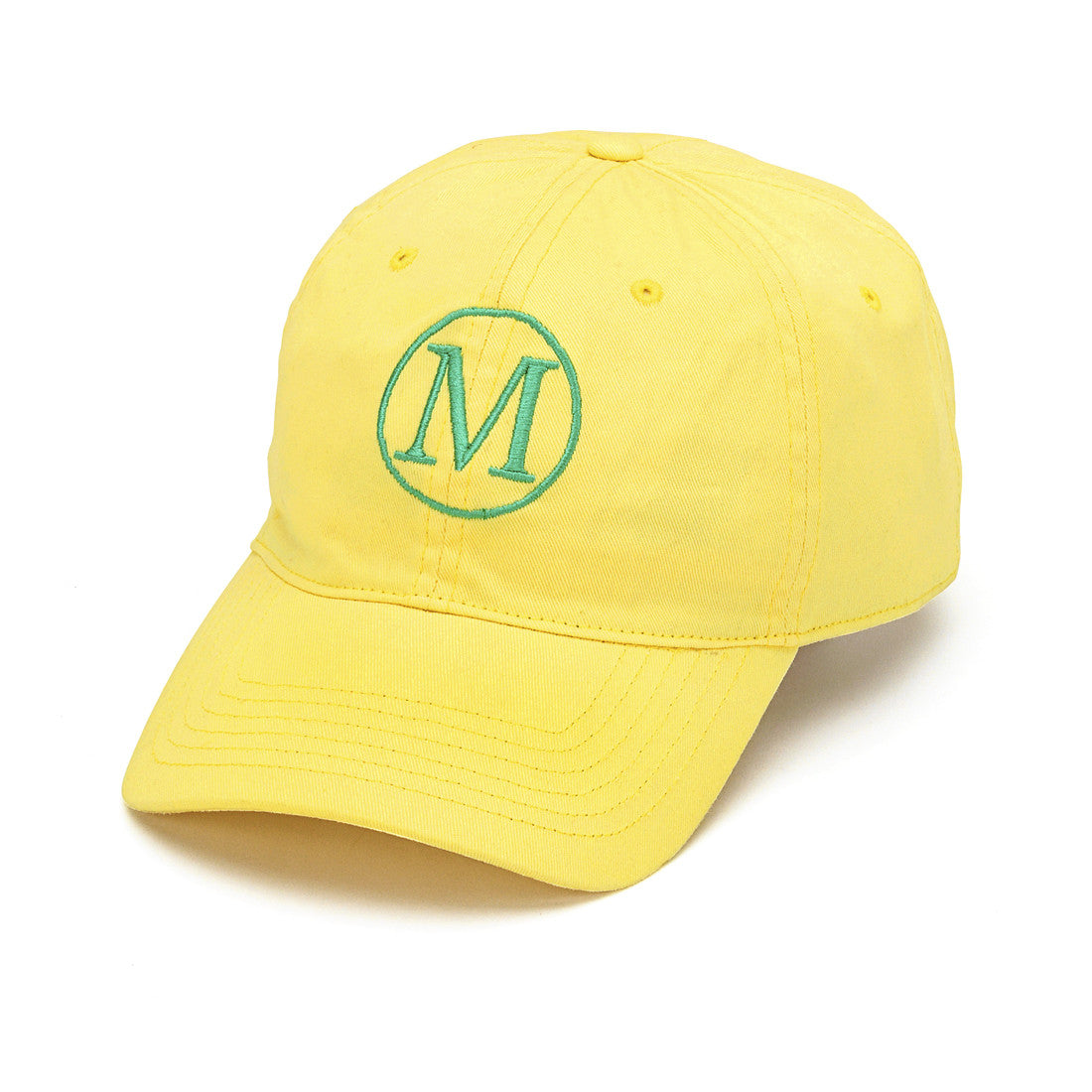 Yellow Monogrammed Baseball Hat