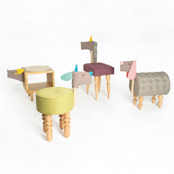 Animal chairs color  - Buffalo 水牛椅櫃