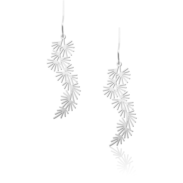 Black Pine Earrings 黑松葉耳環 (E09B)