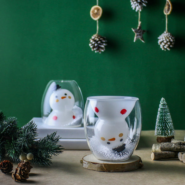 雪人雙層杯 Snowman Double Wall Glass
