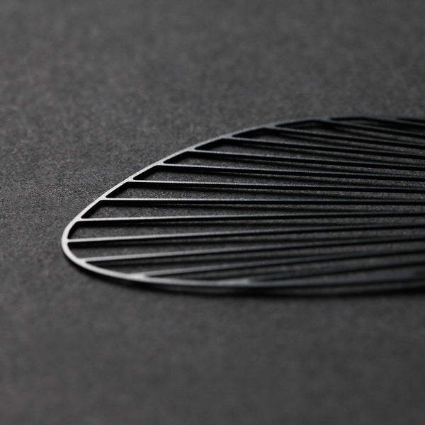 Black Fan Earrings 黑扇耳環 (E12B)