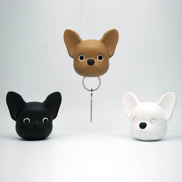 Frenchy Dog Key Holder 法鬥鑰匙圈_白
