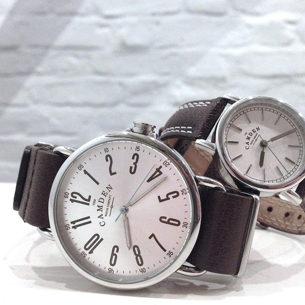 Camden Watch_NO88_都會雅痞個性真皮腕錶 Steel and Brown Leather