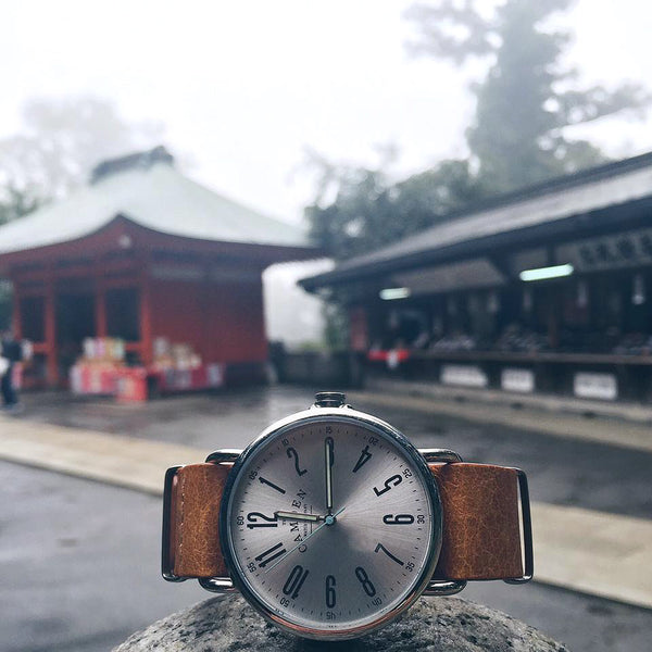 Camden Watch_NO88_都會雅痞個性真皮腕錶 Steel and Tan Leather