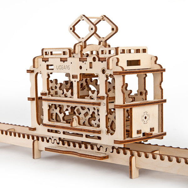 UGEARS_輕軌電車 Tram with rails