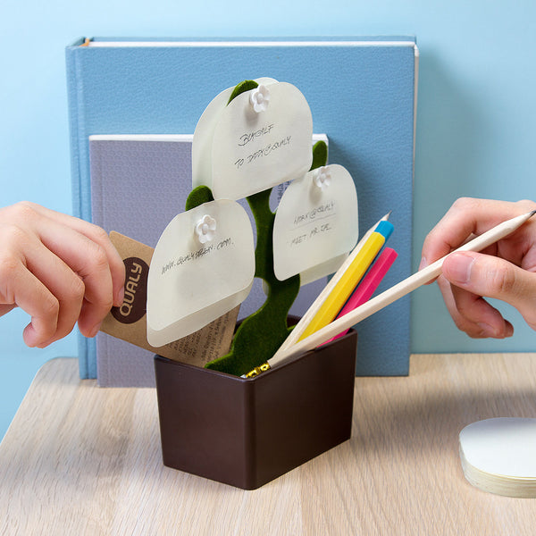 Desk Bonsai_Accessories box+Note plate 樹花-桌上收納盒