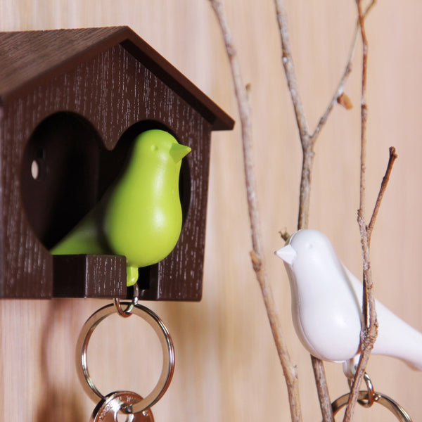 Duo Sparrow Keyring_Whistle Key Ring+Key Holder 雀兒愛巢-鑰匙圈組_咖啡屋