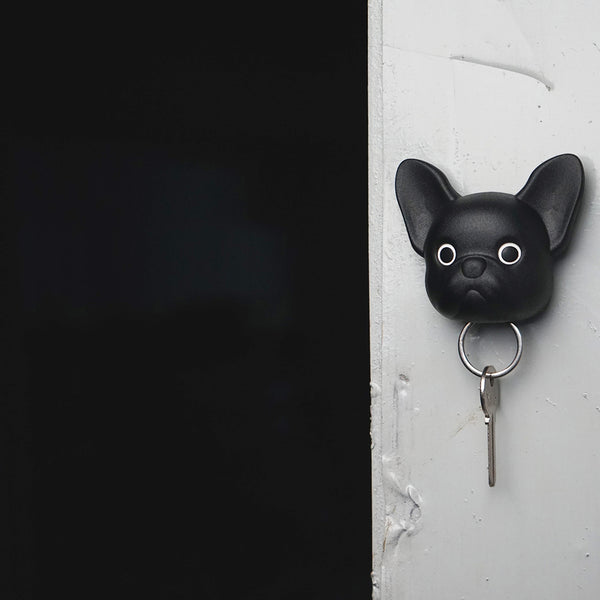 Frenchy Dog Key Holder 法鬥鑰匙圈_黑